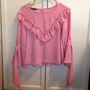 Pink blouses from Zara